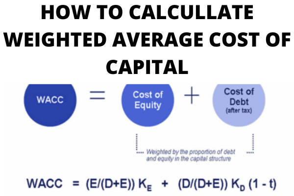 HOW TO CALCULLATE WEIGHTED AVERAGE COST OF CAPITAL